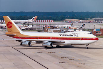 N608PE - Continental Airlines Boeing 747-200
