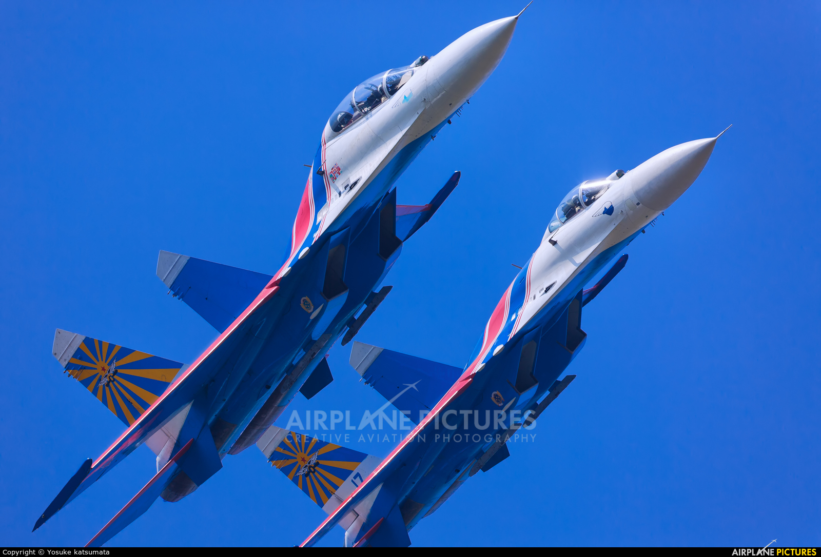 "Russia - Air Force ""Russian Knights"" 17 aircraft at Zhūhǎi-Jīnwān"