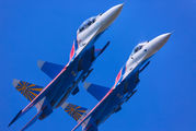 "17 - Russia - Air Force ""Russian Knights"" Sukhoi Su-27 aircraft"