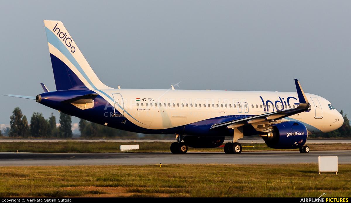 IndiGo VT-ITG aircraft at Bangalore - Bengaluru Intl