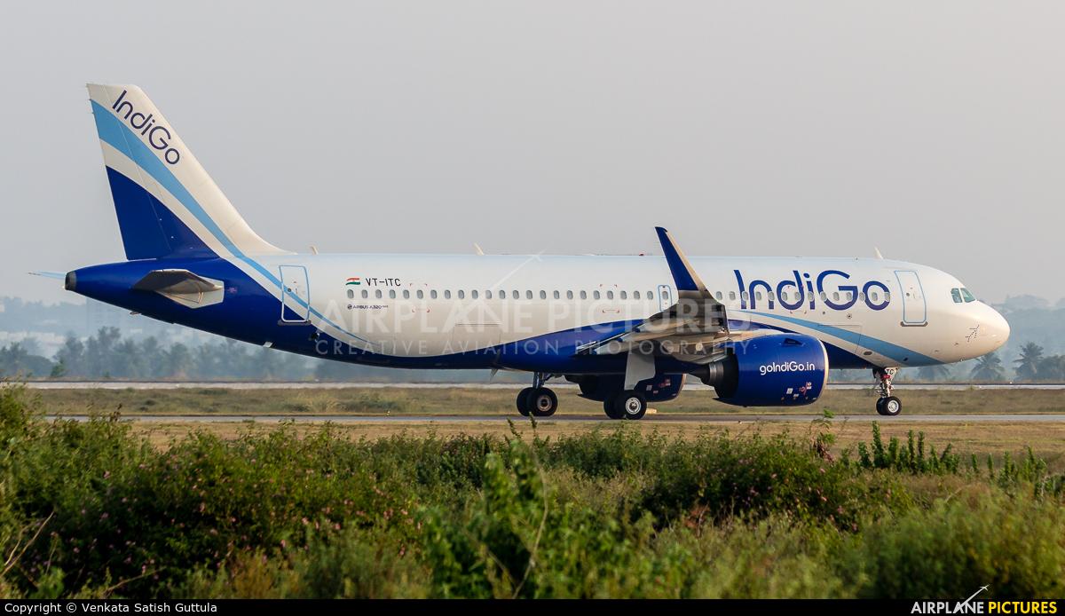 IndiGo VT-ITC aircraft at Bangalore - Bengaluru Intl