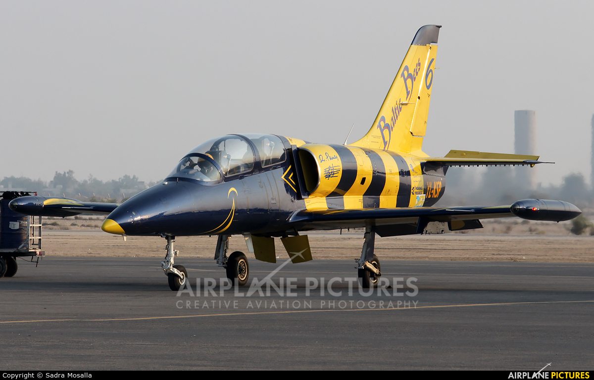 Baltic Bees Jet Team YL-KSP aircraft at Kish Island