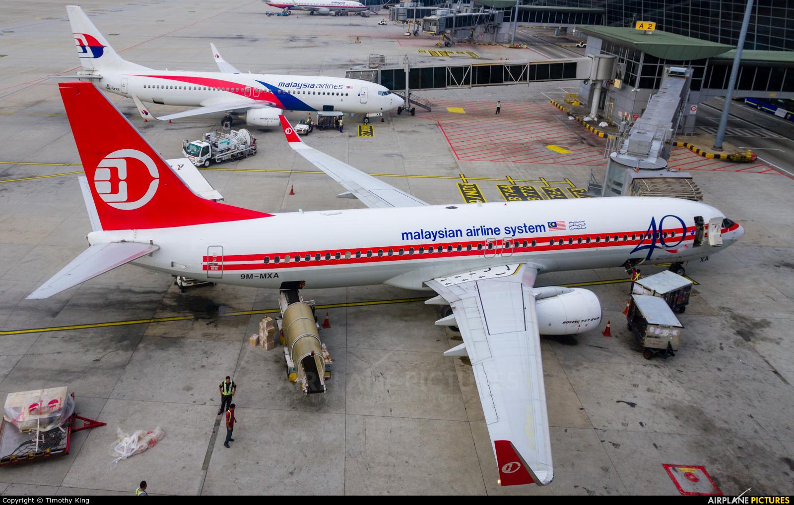 Malaysia Airlines 9M-MXA aircraft at Kuala Lumpur Intl