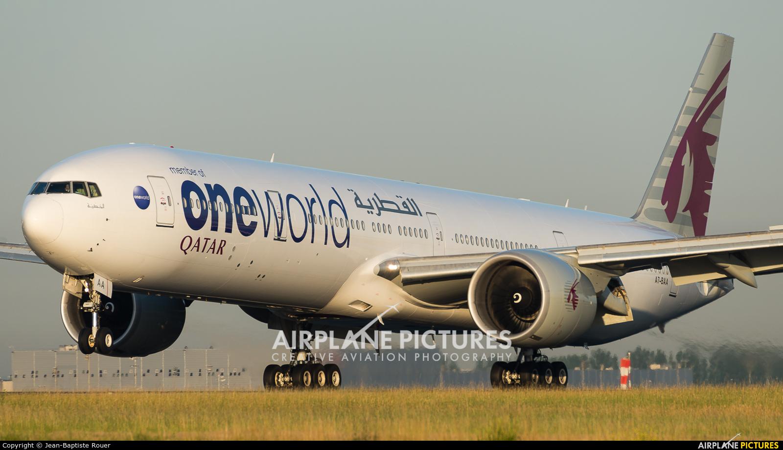 Qatar Airways A7-BAA aircraft at Paris - Charles de Gaulle