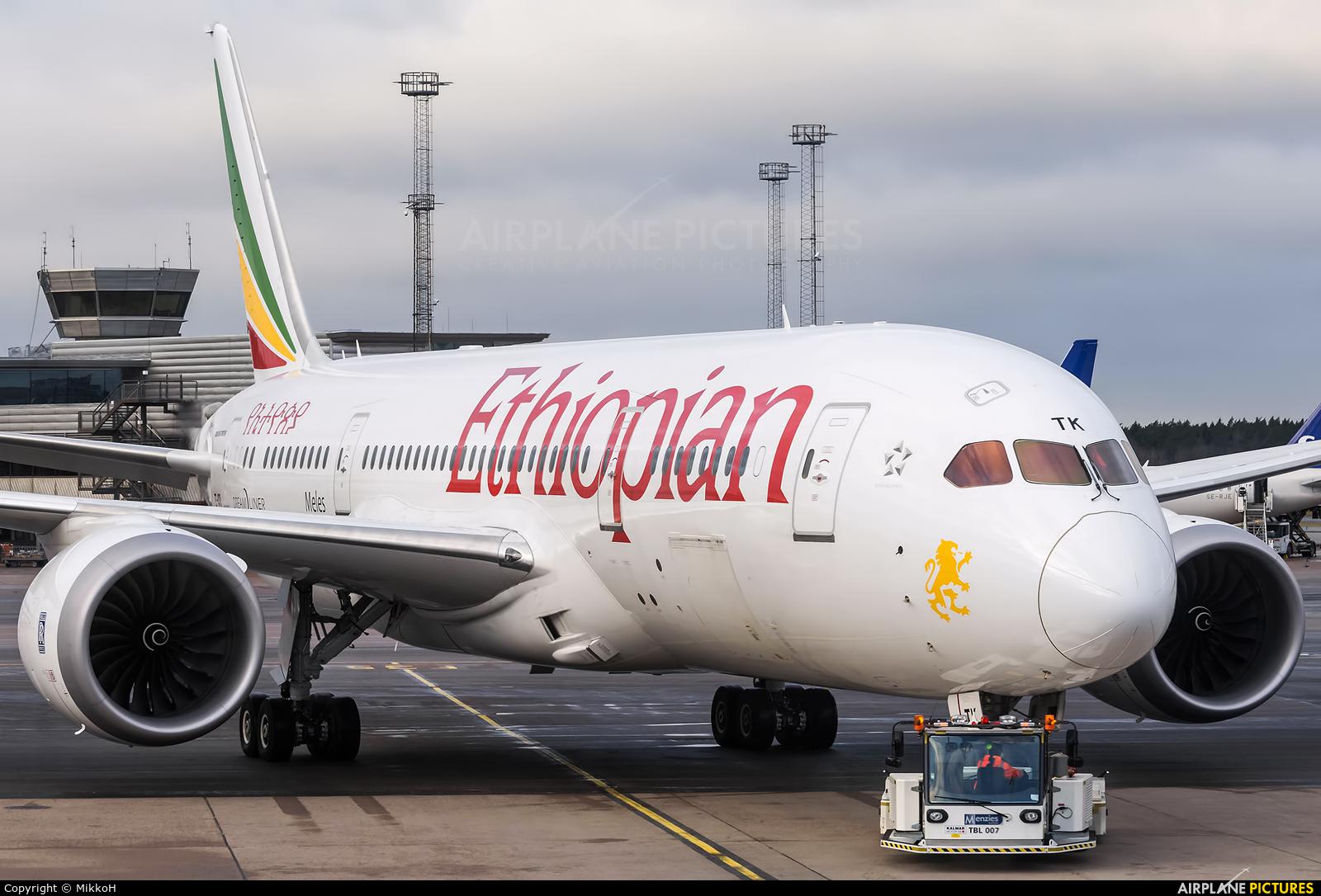 Ethiopian Airlines ET-ATK aircraft at Stockholm - Arlanda