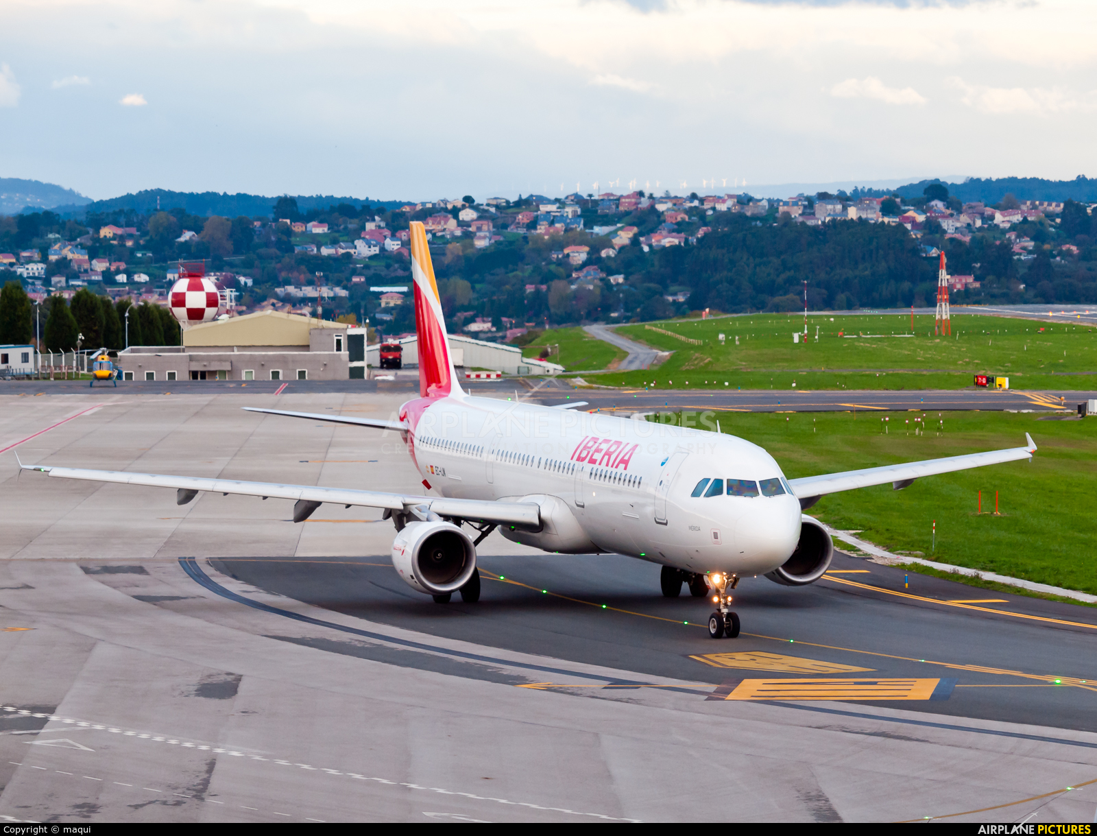 Iberia EC-IJN aircraft at La Coruña