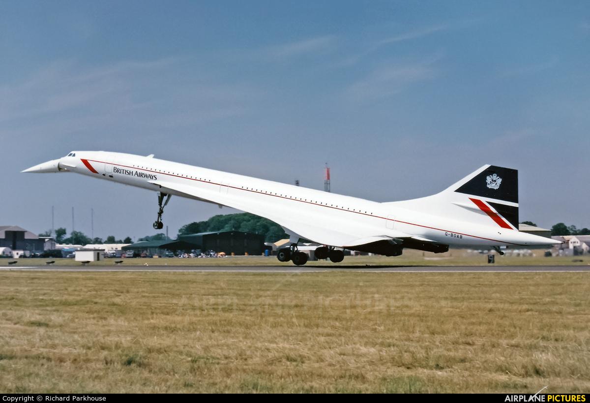 British Airways G-BOAB aircraft at Fairford