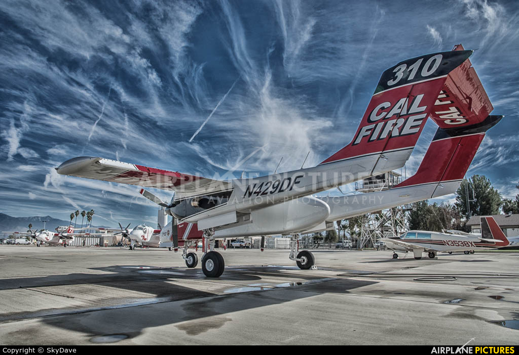 California - Dept. of Forestry & Fire Protection N429DF aircraft at Hemet, CA