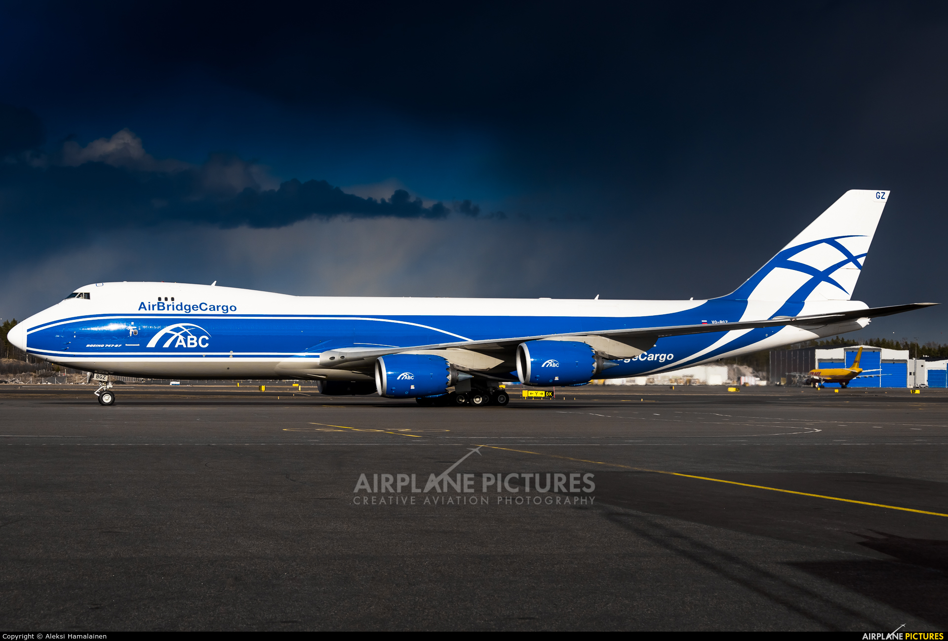 Air Bridge Cargo VQ-BGZ aircraft at Helsinki - Vantaa