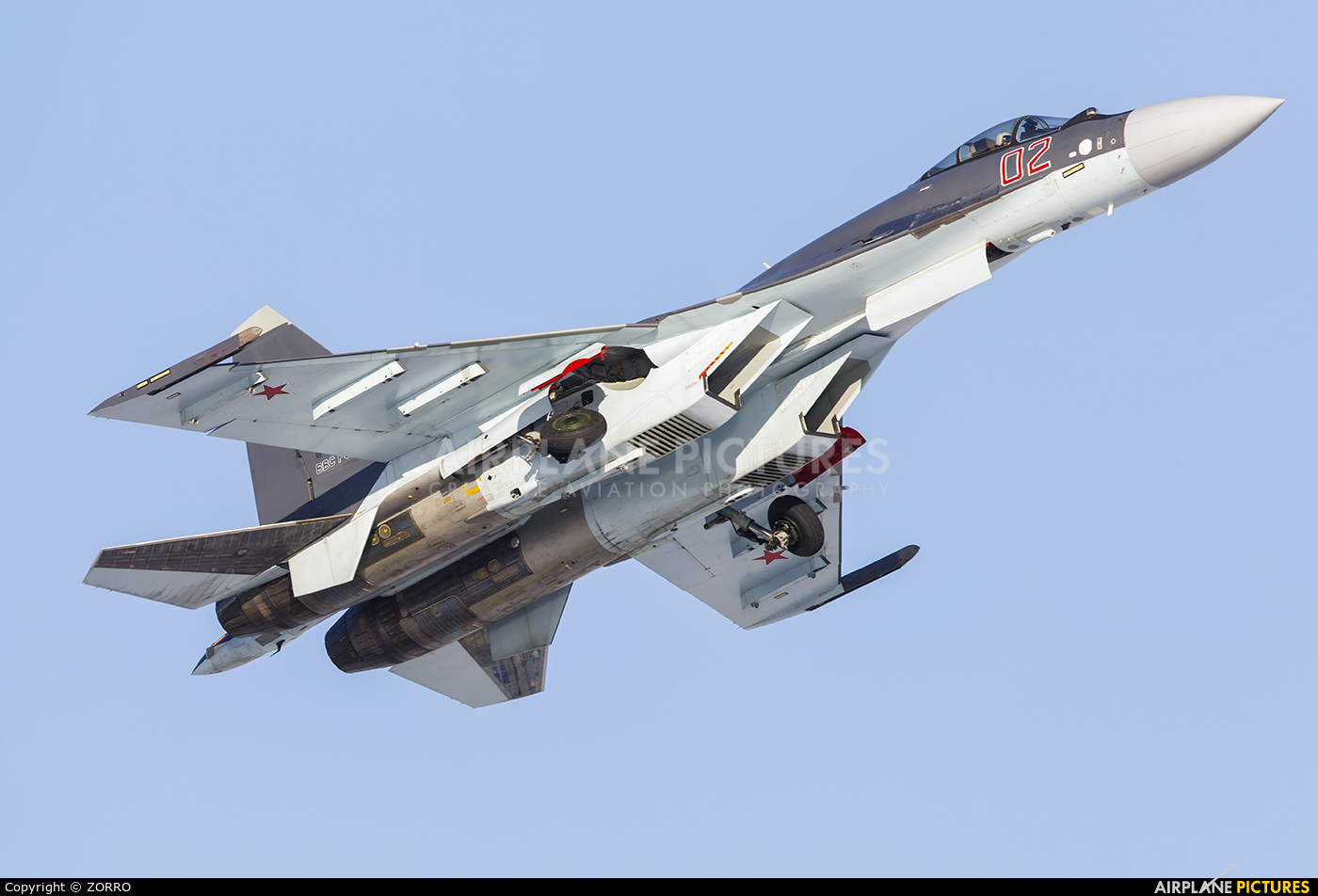Russia - Air Force 02 aircraft at Off Airport - Russia