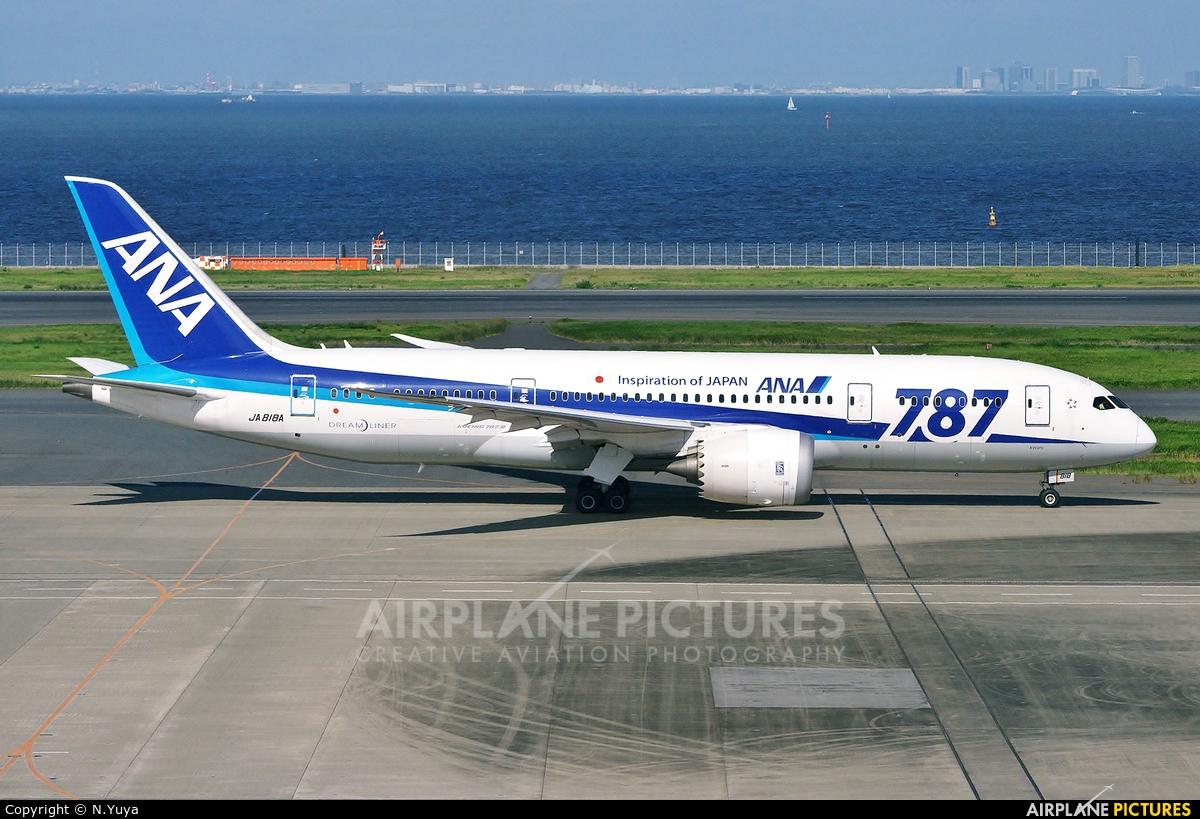 ANA - All Nippon Airways JA818A aircraft at Tokyo - Haneda Intl