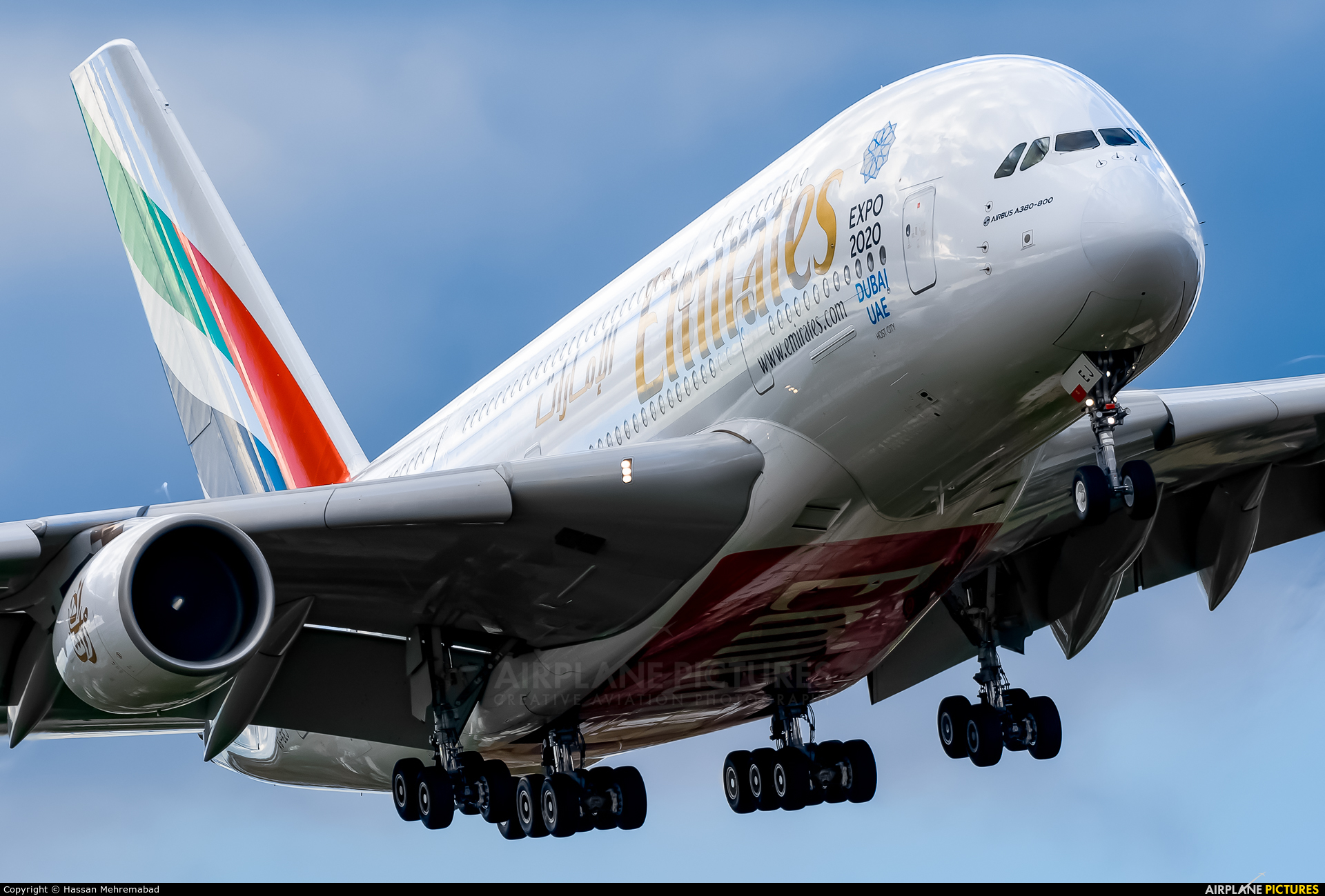 Emirates Airlines A6-EEJ aircraft at London - Heathrow