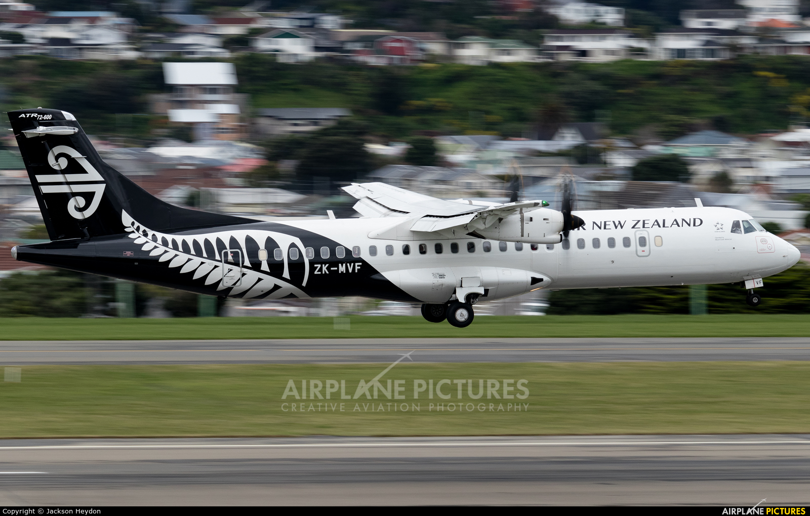 Air New Zealand Link - Mount Cook Airline ZK-MVF aircraft at Wellington Intl