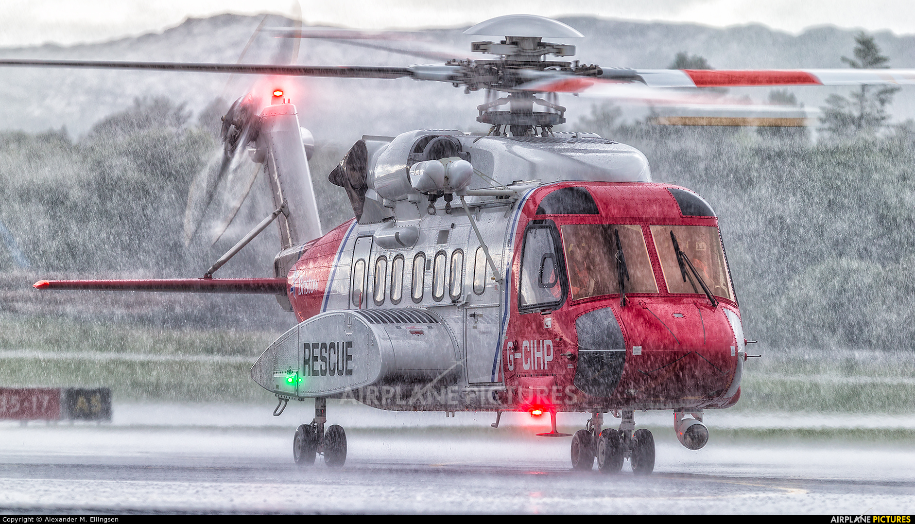 Bristow Helicopters G-CIHP aircraft at Bergen - Flesland