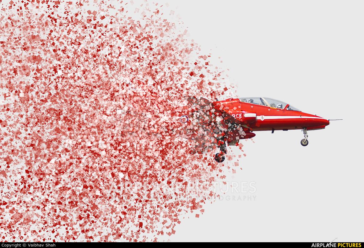 """Royal Air Force """"Red Arrows"""" XX244 aircraft at Mumbai - Chhatrapati Shivaji Intl"""