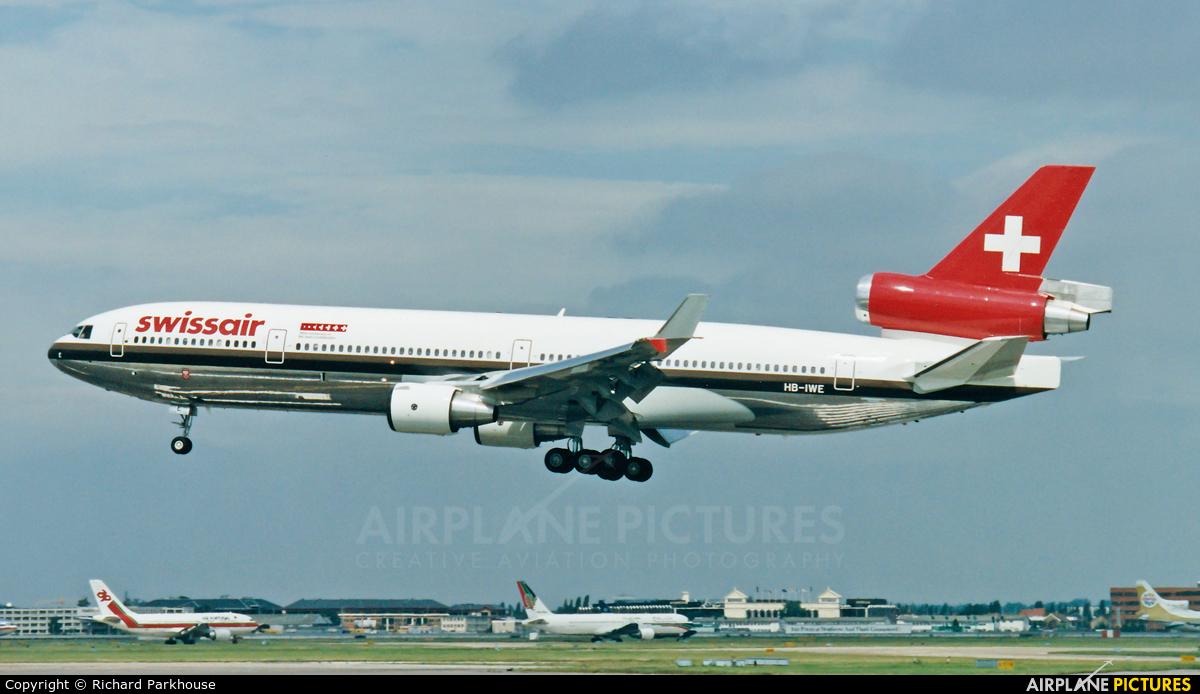 Swissair HB-IWE aircraft at London - Heathrow