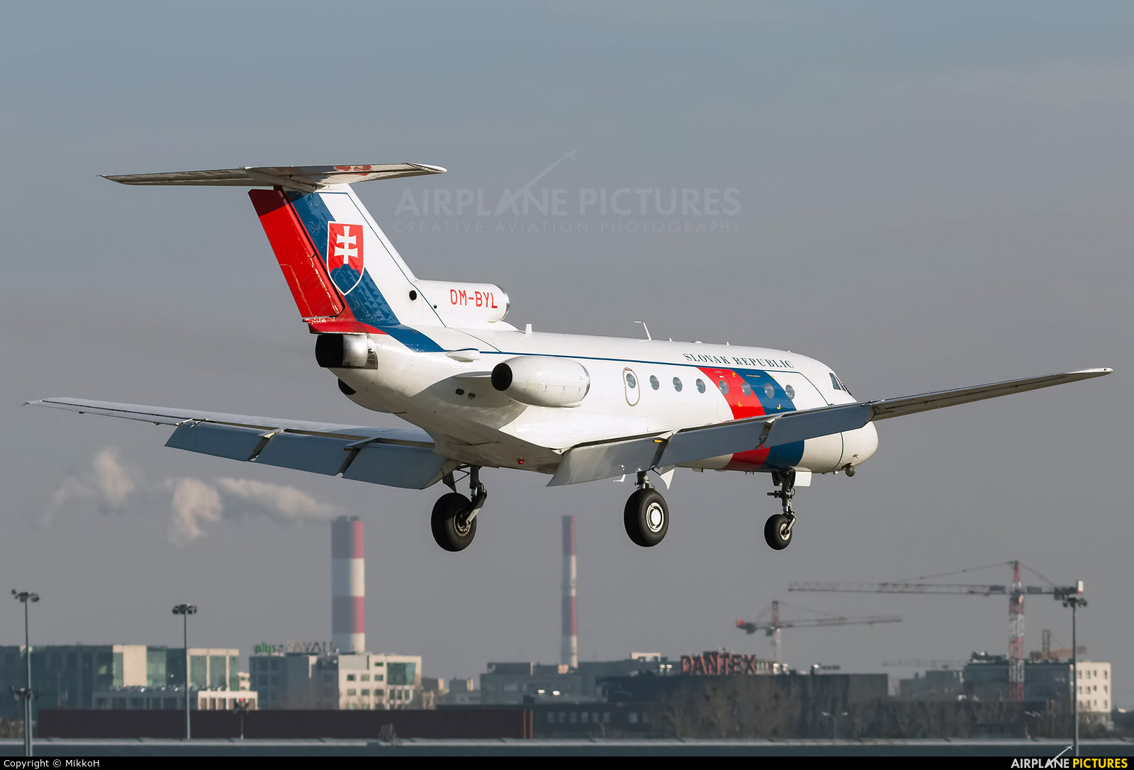 Slovakia - Government OM-BYL aircraft at Warsaw - Frederic Chopin