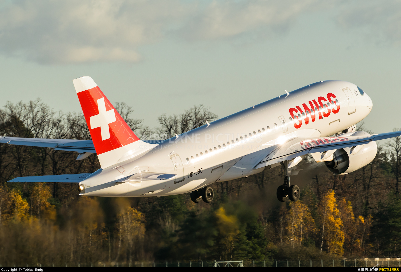 Swiss HB-JBC aircraft at Frankfurt