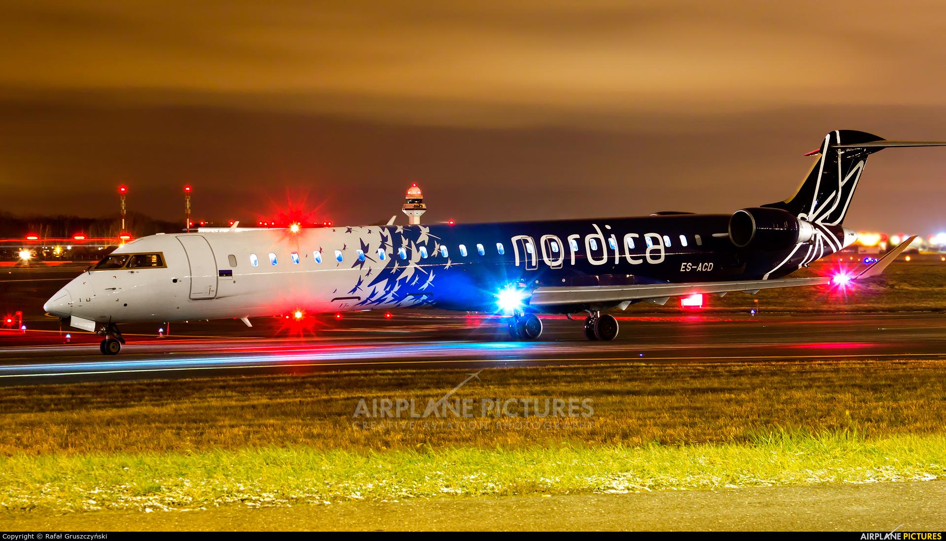 Nordica ES-ACD aircraft at Warsaw - Frederic Chopin