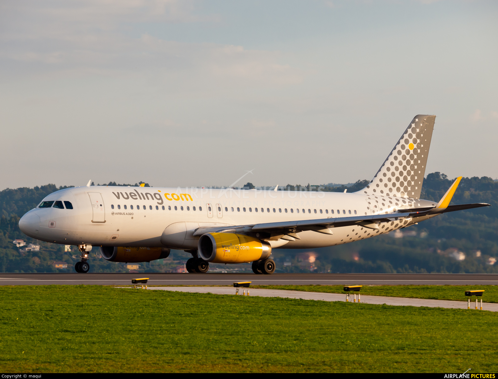Vueling Airlines EC-LUO aircraft at La Coruña