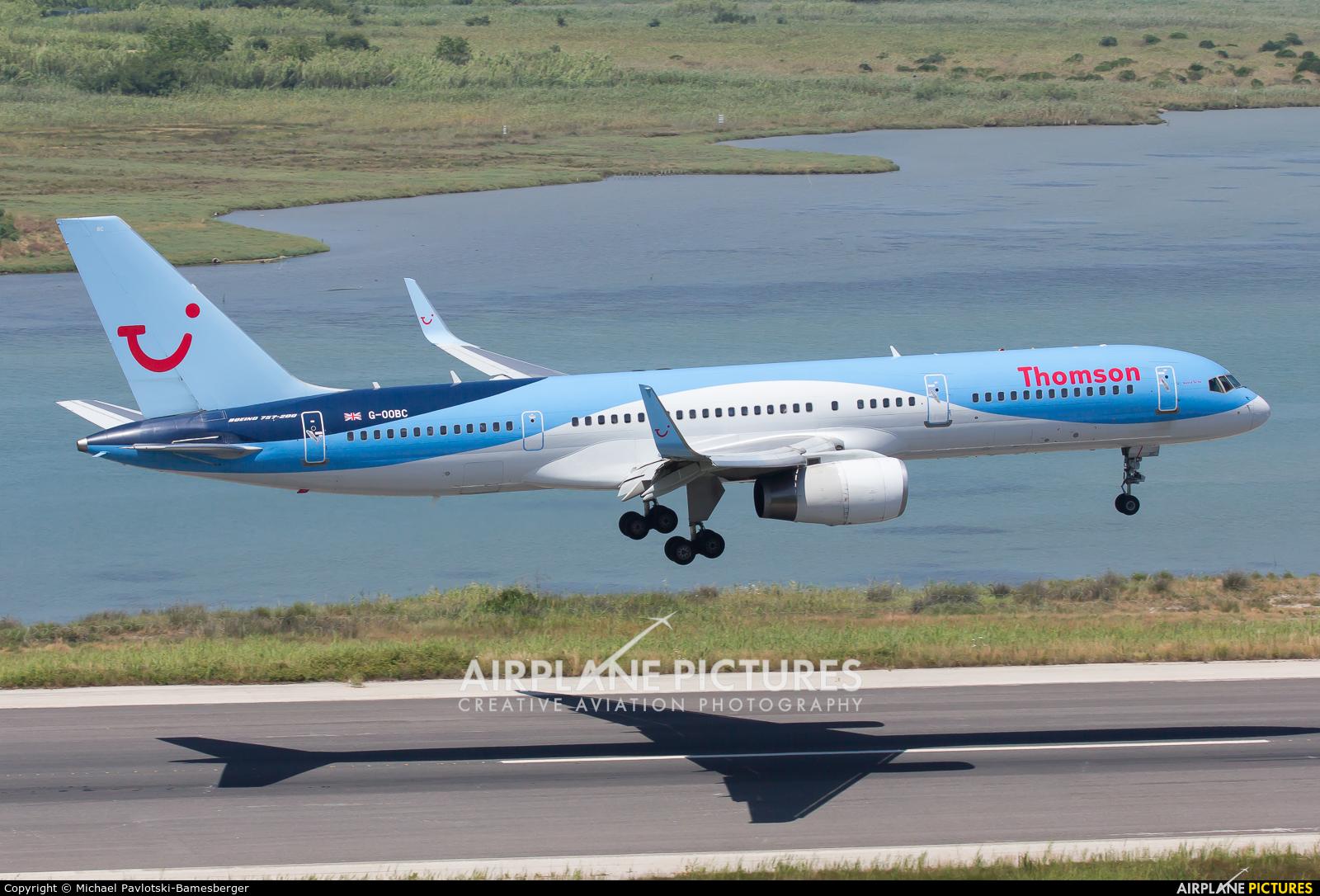 Thomson/Thomsonfly G-OOBC aircraft at Corfu - Ioannis Kapodistrias