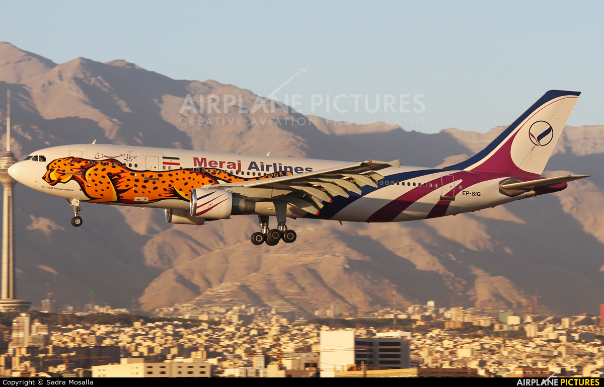 Meraj Airlines EP-SIG aircraft at Tehran - Mehrabad Intl