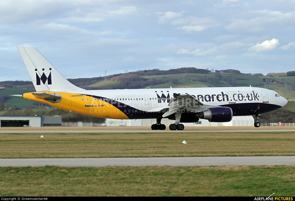 Monarch Airlines G-OJMR aircraft at Grenoble - Saint-Geoirs