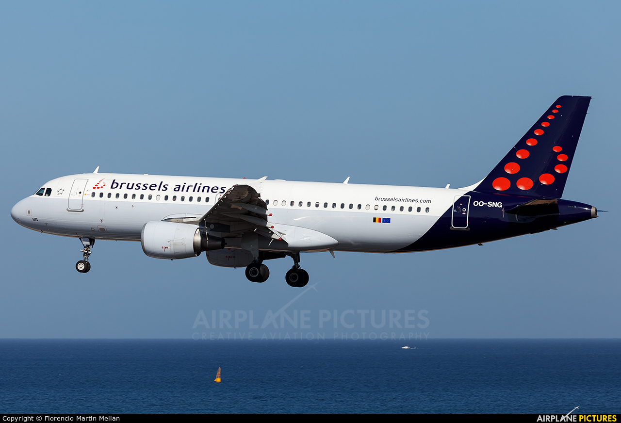 Brussels Airlines OO-SNG aircraft at Lanzarote - Arrecife