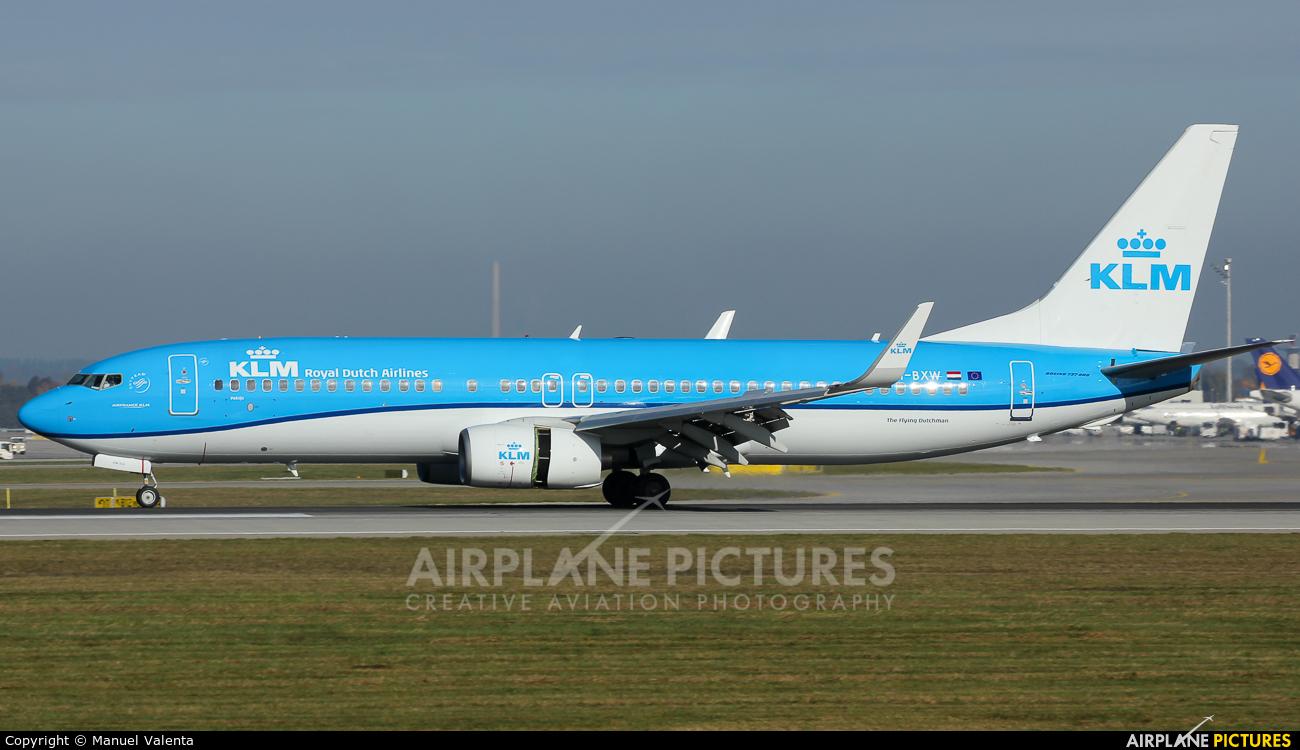 KLM PH-BXW aircraft at Munich
