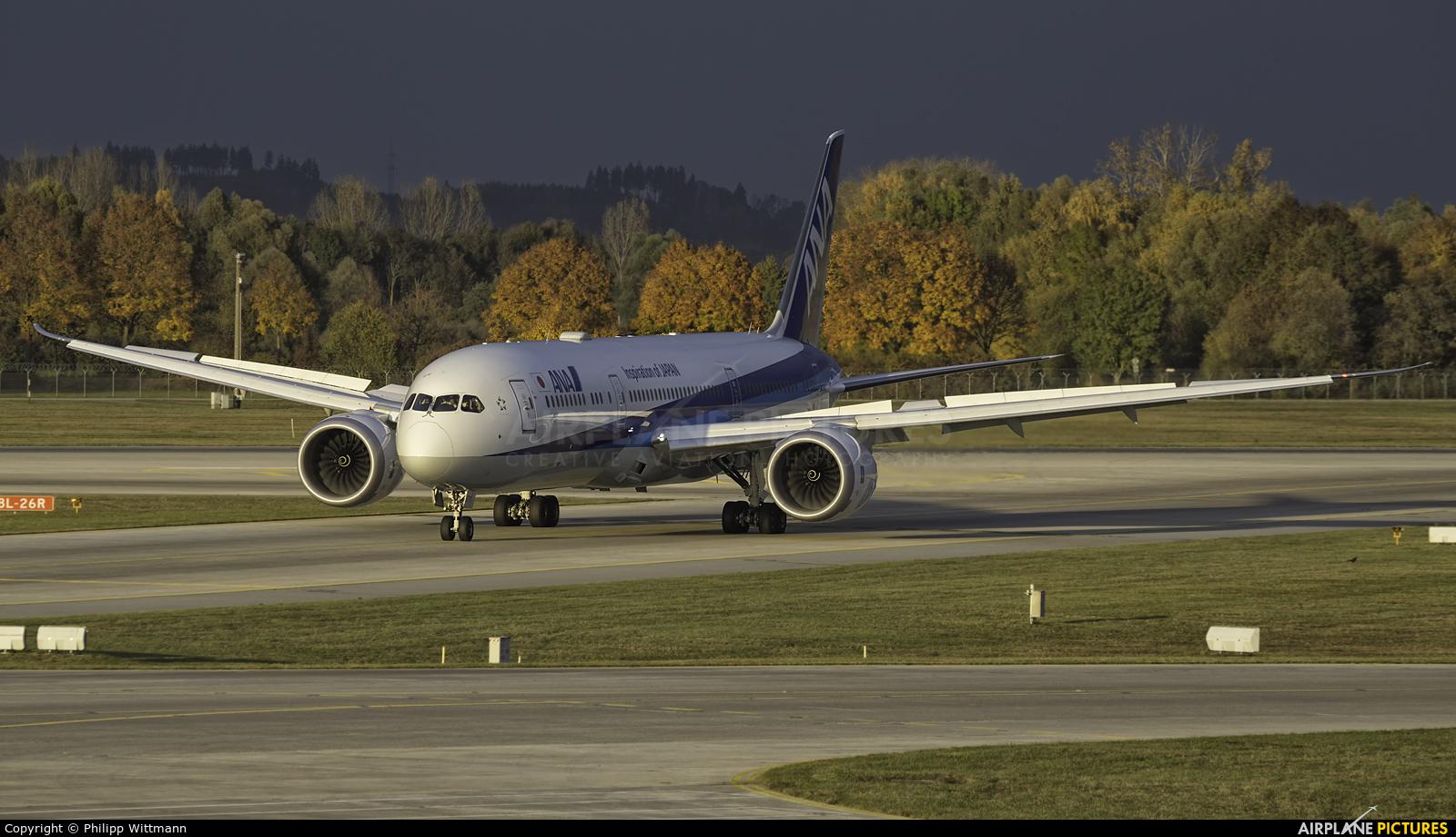 ANA - All Nippon Airways JA875A aircraft at Munich