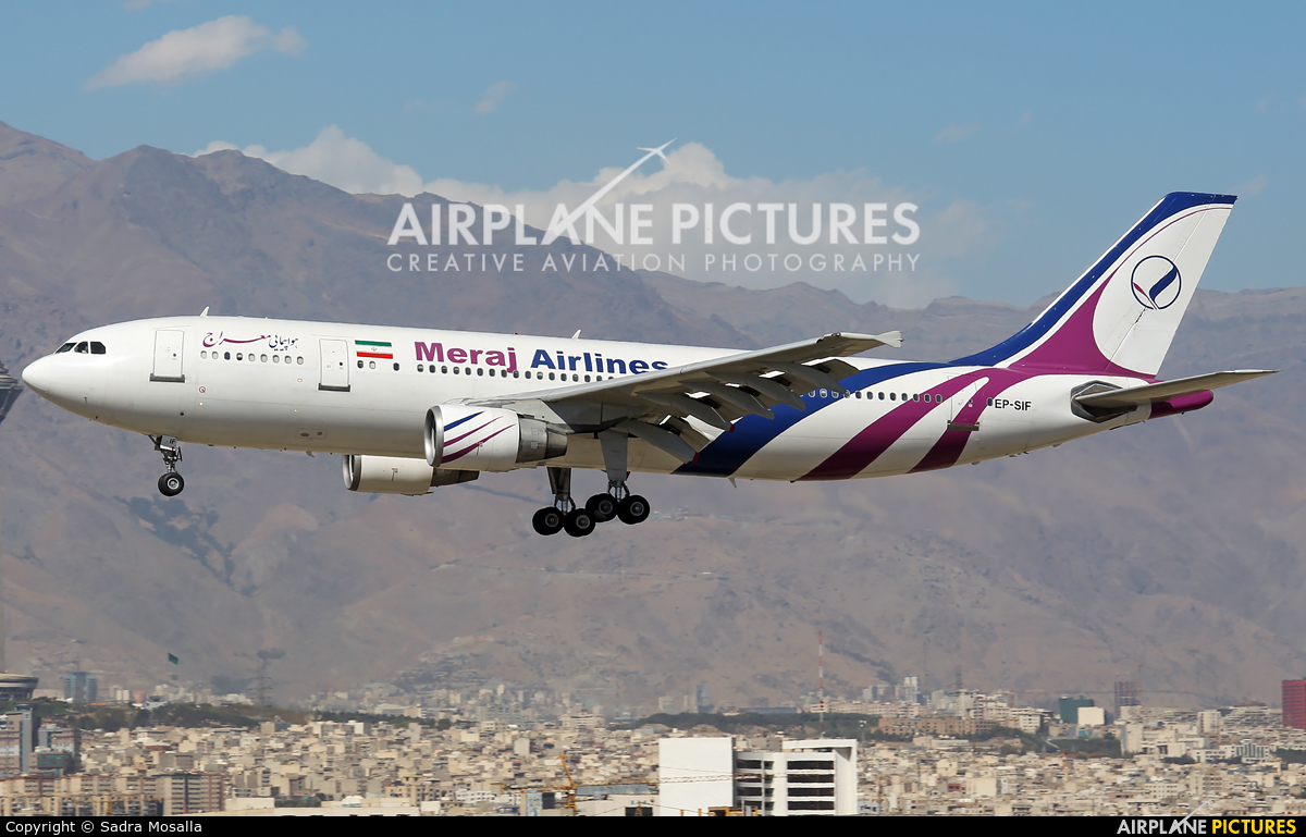 Meraj Airlines EP-SIF aircraft at Tehran - Mehrabad Intl