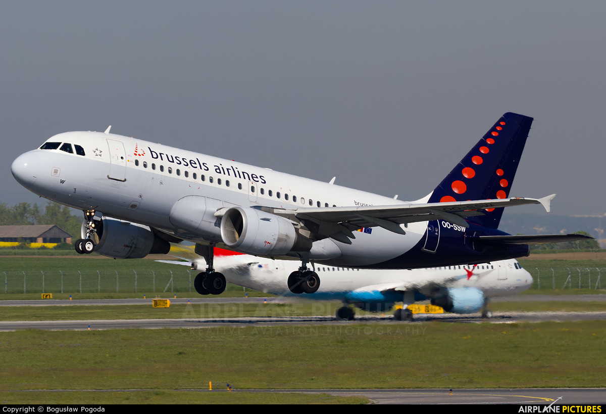 Brussels Airlines OO-SSW aircraft at Vienna - Schwechat