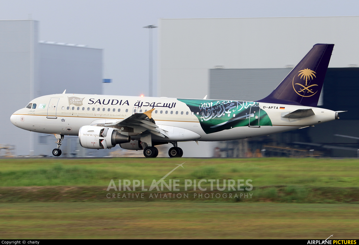 Saudi Arabian Airlines D-APTA aircraft at Kuala Lumpur Intl
