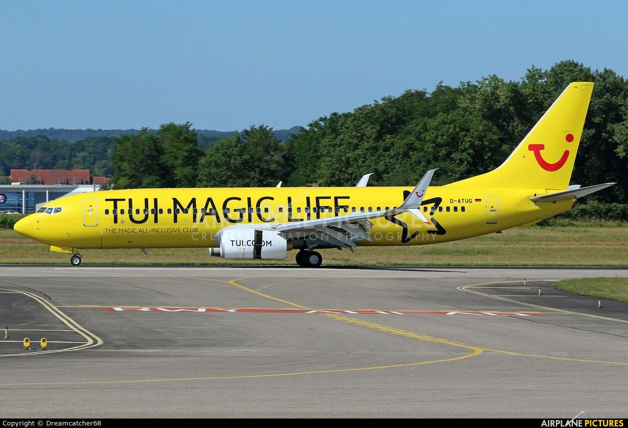TUIfly D-ATUG aircraft at Basel - Mulhouse- Euro