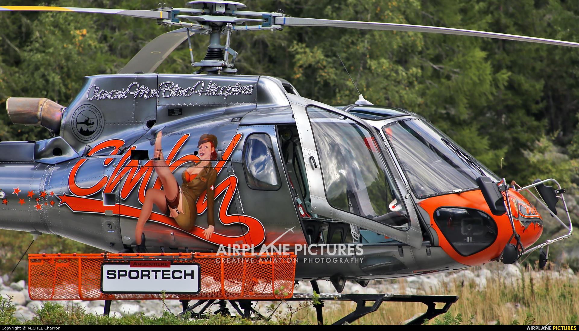 Chamonix-Mont-Blanc Hélicoptères F-HESB aircraft at Argentière