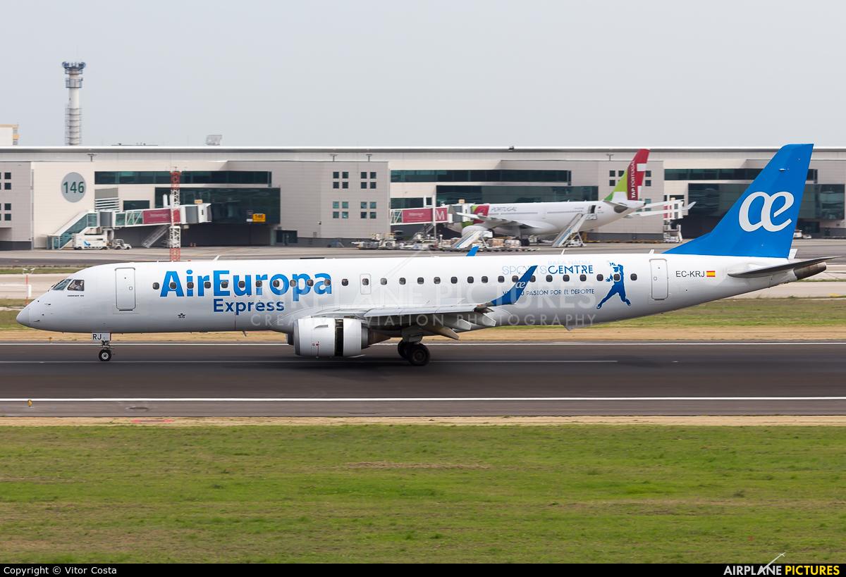 Air Europa Express EC-KRJ aircraft at Lisbon