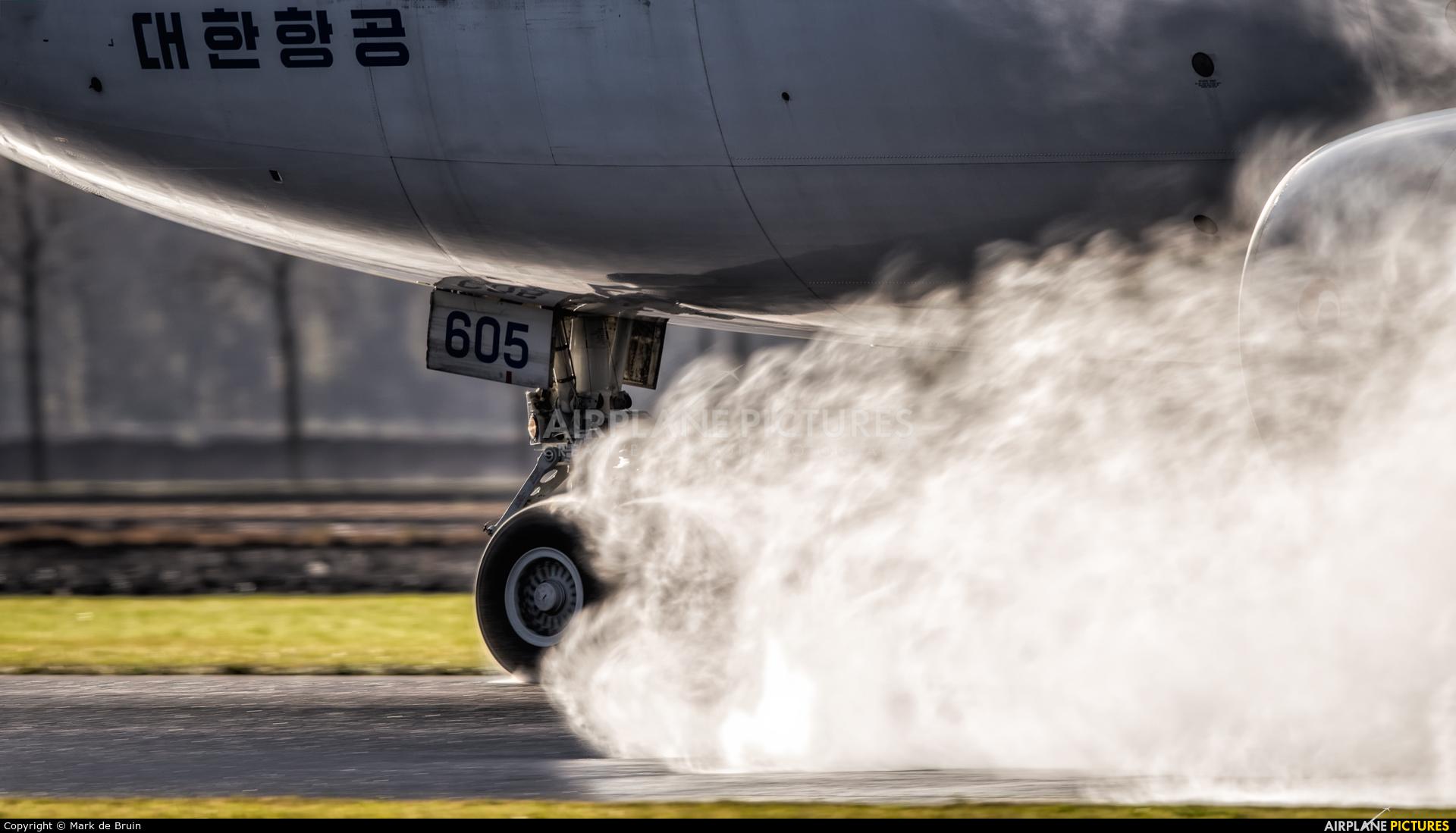 Korean Air Cargo HL7605 aircraft at Amsterdam - Schiphol