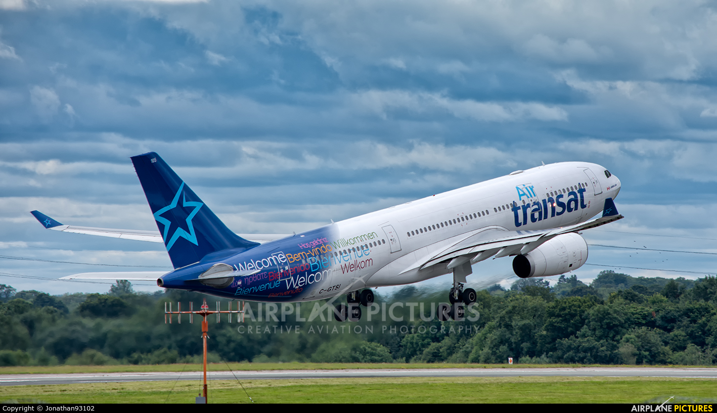 c gtsi air transat airbus a330 200 at manchester photo id 805667 airplane pictures net