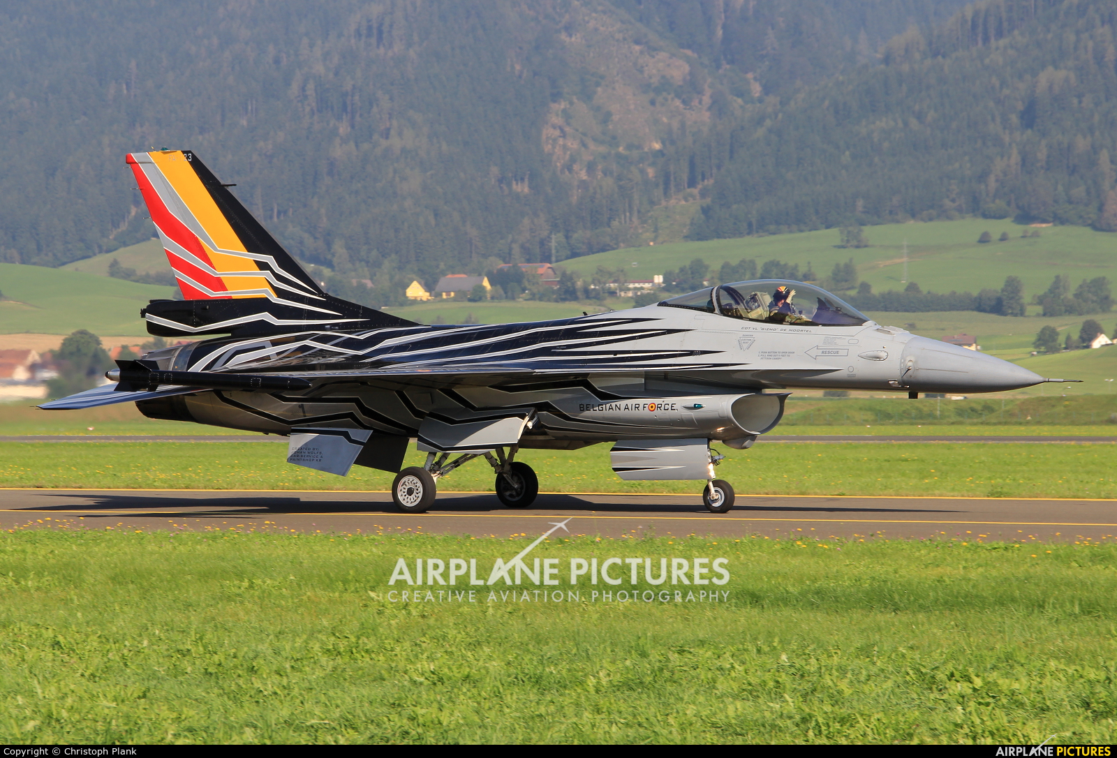 Belgium - Air Force FA-123 aircraft at Zeltweg