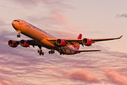 G-VWEB - Virgin Atlantic Airbus A340-600 aircraft