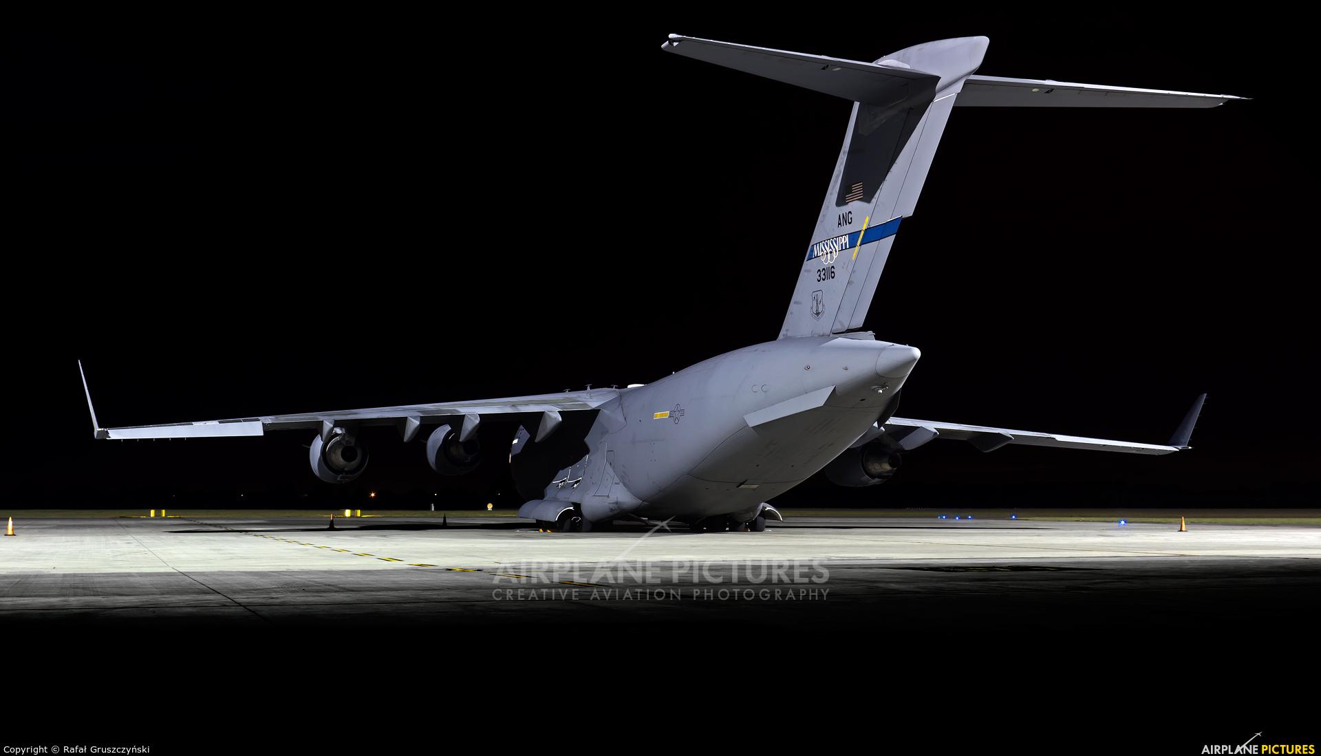 USA - Air Force 03-3116 aircraft at Warsaw - Frederic Chopin