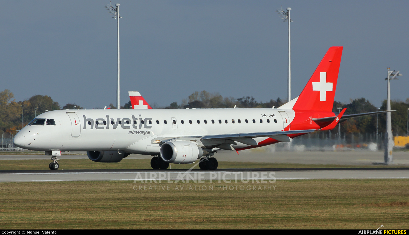 Helvetic Airways HB-JVR aircraft at Munich