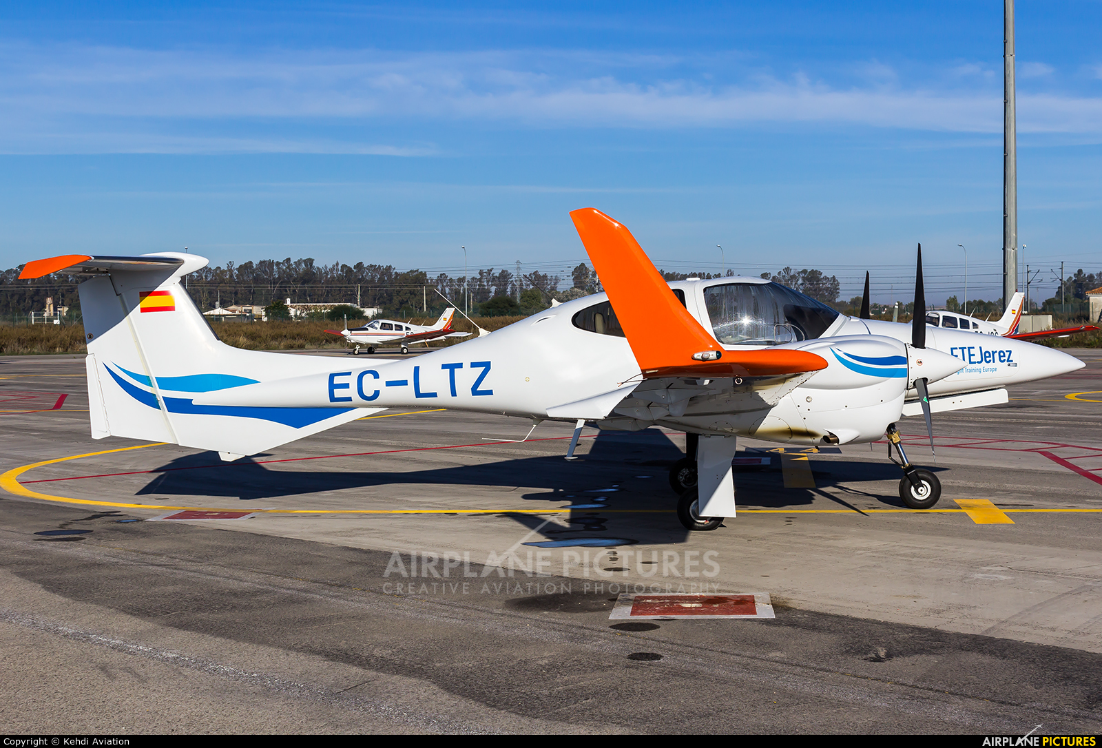 Private EC-LTZ aircraft at Jerez de la Frontera