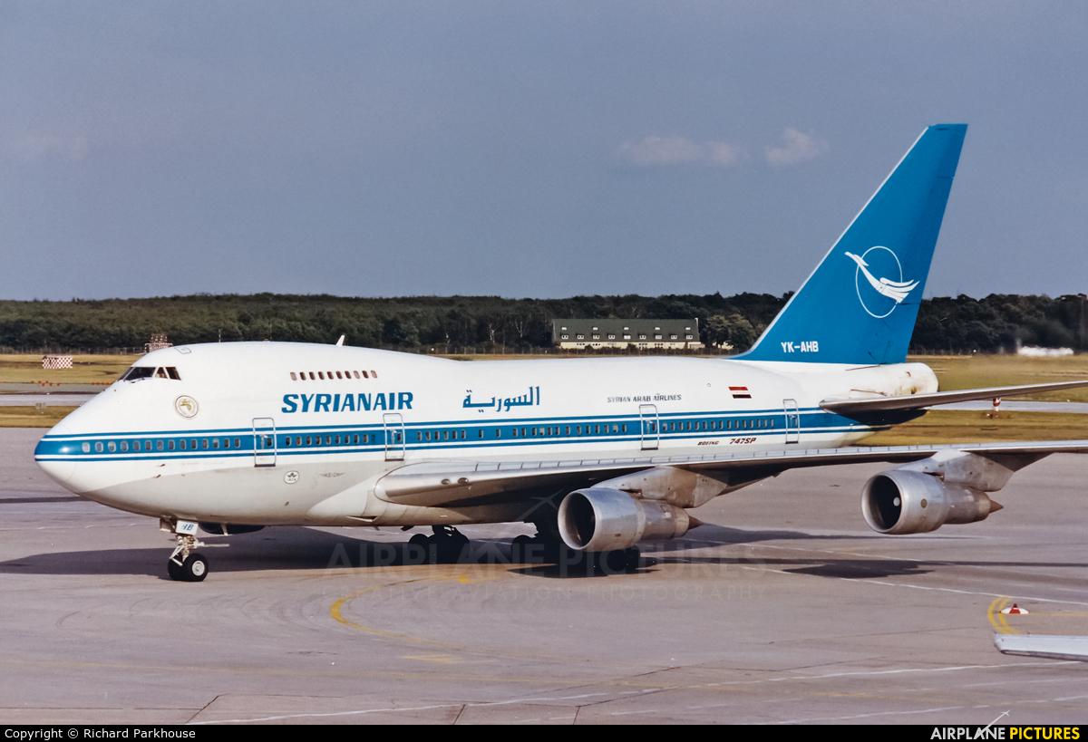 Syrian Air YK-AHB aircraft at Frankfurt