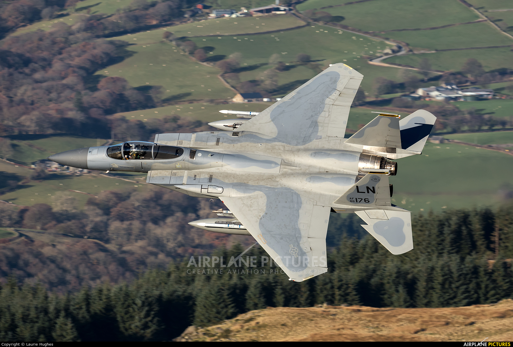USA - Air Force 86-0176 aircraft at Machynlleth Loop - LFA 7
