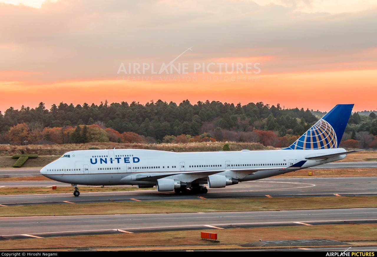 United Airlines N127UA aircraft at Tokyo - Narita Intl