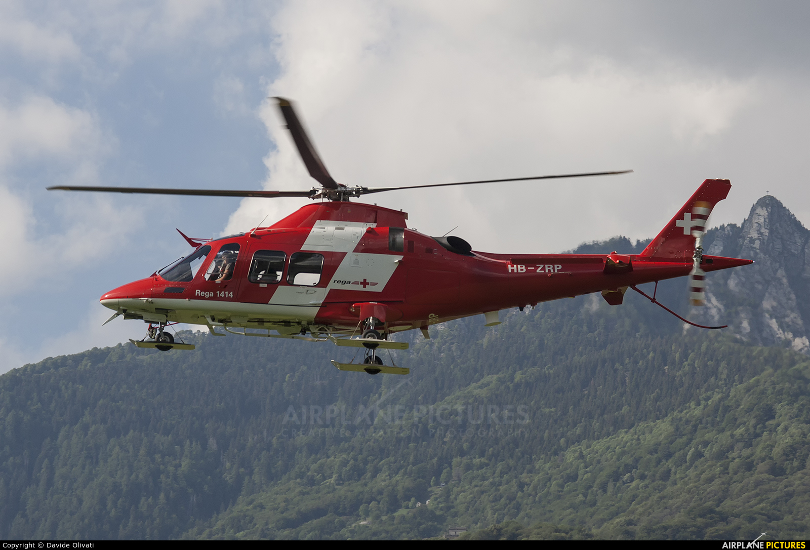 REGA Swiss Air Ambulance  HB-ZRP aircraft at Locarno