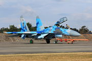 71 BLUE - Ukraine - Air Force Sukhoi Su-27UB aircraft