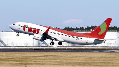 HL8000 - T'Way Air Boeing 737-800
