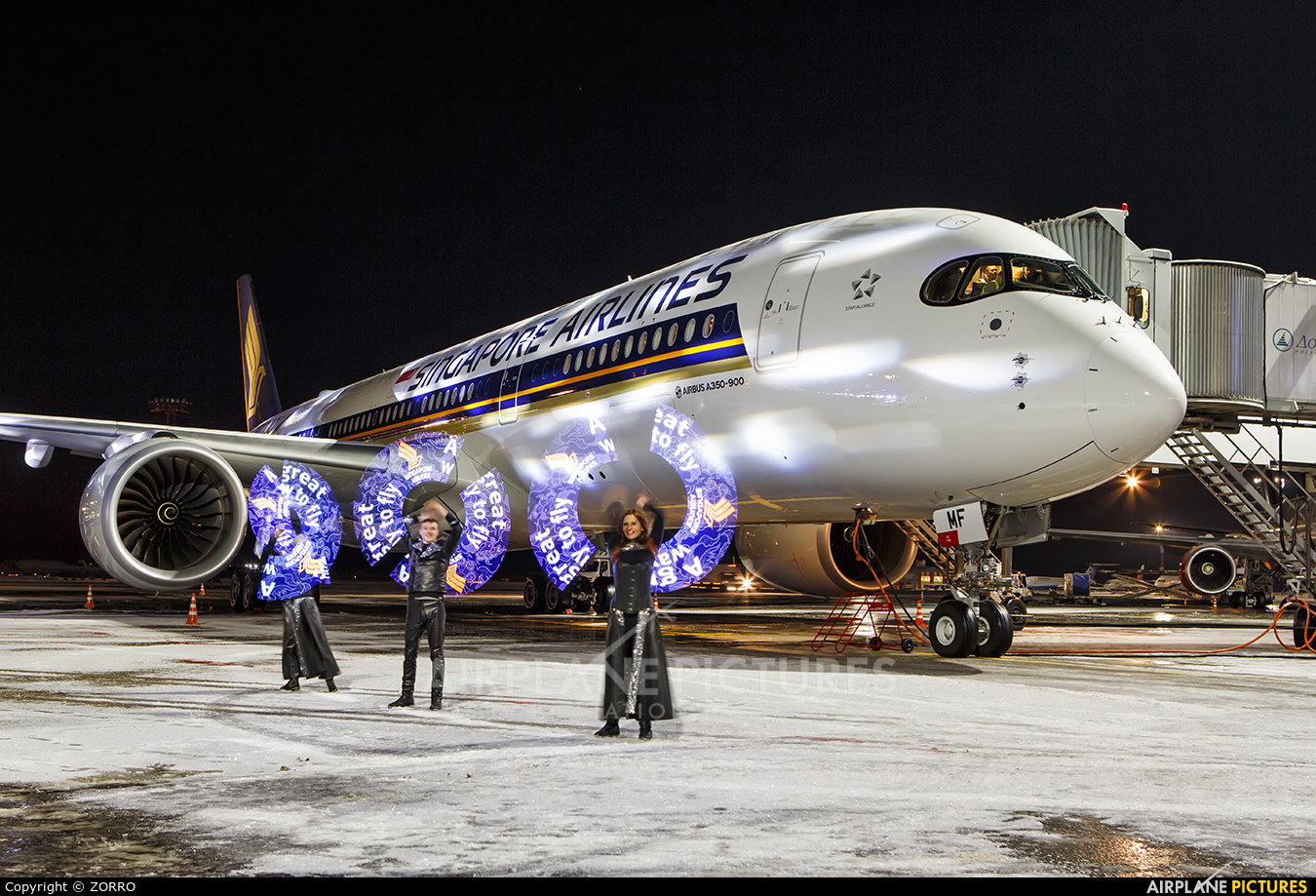 Singapore Airlines 9V-SMF aircraft at Moscow - Domodedovo